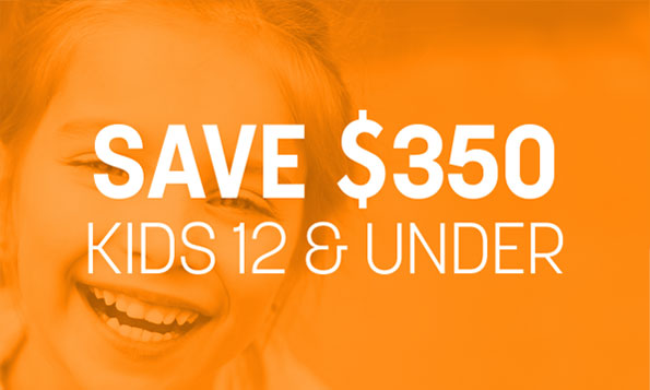 Save $350 kids 12 and under, special offers