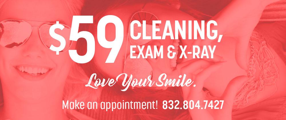 teeth cleaning & exam at lovett dental conroe