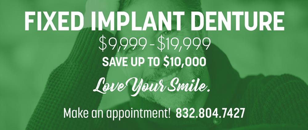 fixed implant denture at lovett dental conroe