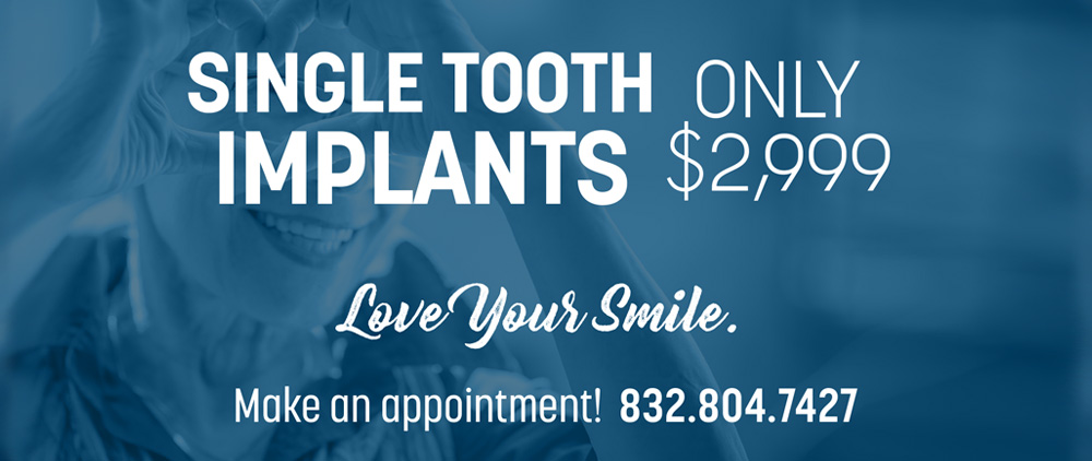 single tooth implants at lovett dental conroe